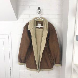 {Old Navy} Men's Vintage Sherpa Brown Jacket